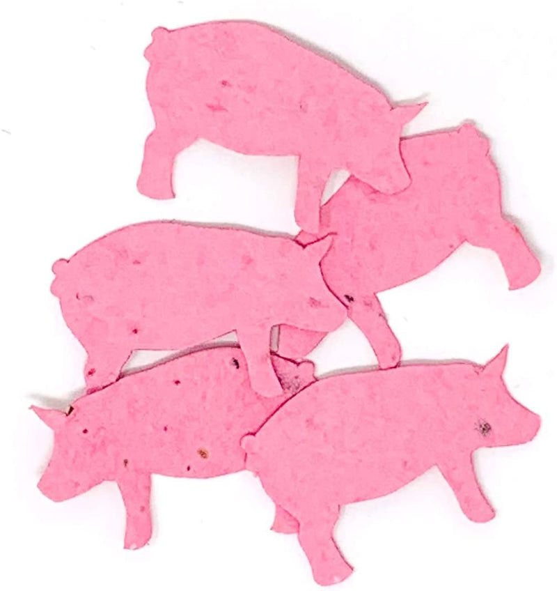 Roamwild Seeded Paper Shapes - Pack Of 100 (Pink Pig)