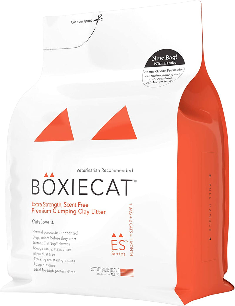 Boxiecat Extra Strength Premium Clumping Clay Cat Litter, 28 lb - 12.7kgs