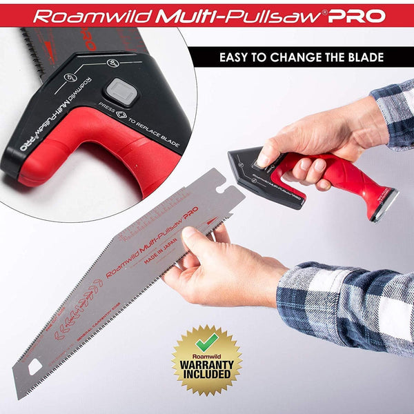 Roamwild Multi Pull Saw PRO Replacement Japanese Blades – General Carpentry Cutting Edge and Unique Angled  Fine Cut Edge Blade