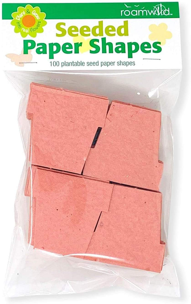 Roamwild Seeded Paper Shapes - Pack Of 100 (Salmon Pot)