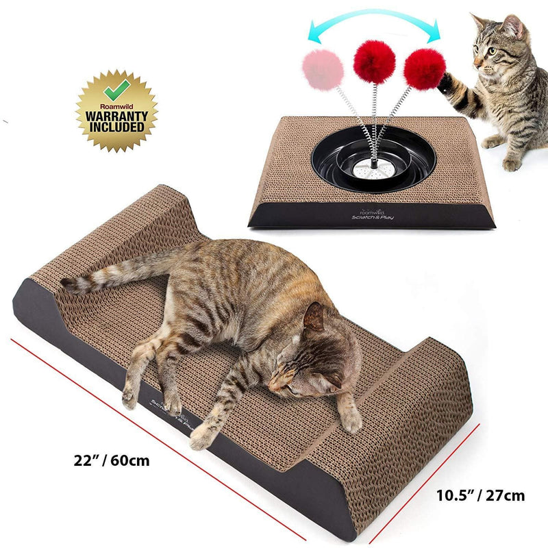 Roamwild Scratcher & Play Set For Cats – 5 in 1 | Scratching Pad & Cat Toy