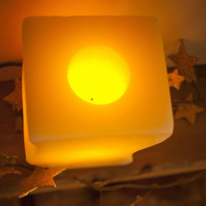 bright battery candle