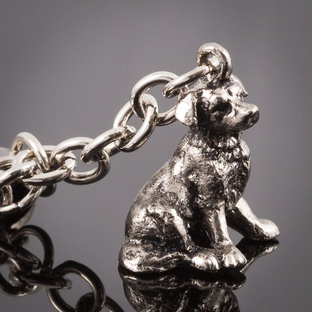 Border Collie High Detailed Dog Metal Animal Keyring