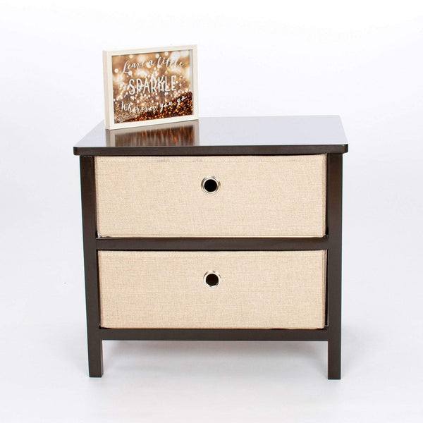 Beautiful Wooden Furniture - 2 Drawer - Assembles In Minutes No Tools Required