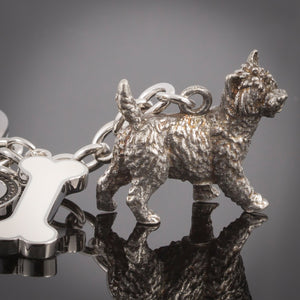 Cairn Terrier High Detailed Dog Metal Animal Keyring
