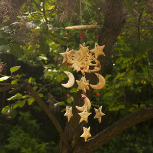Sun & Moon Wind Chime - Hand Crafted Ornamental Wind Chime