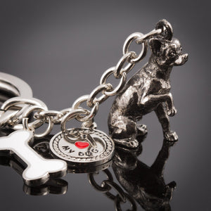 Chihuahua High Detailed Dog Metal Animal Keyring