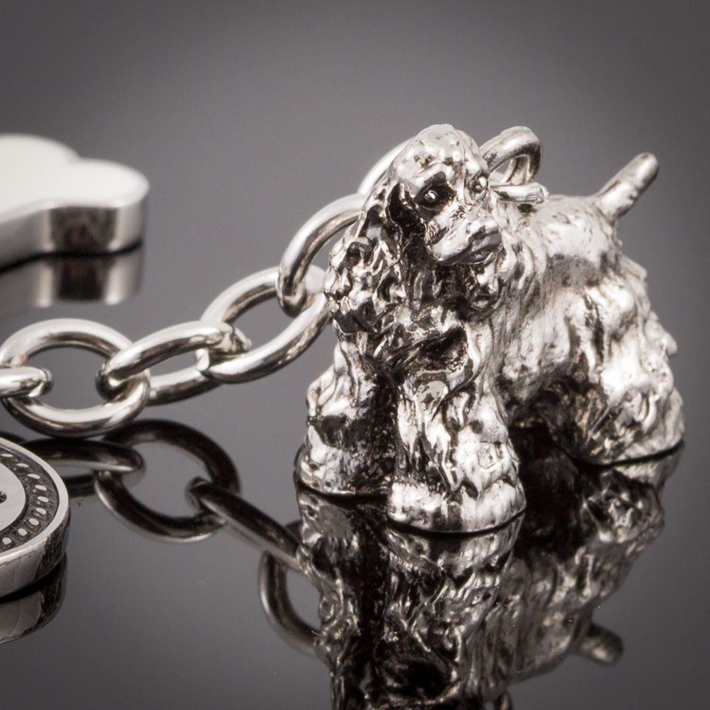 Cocker Spaniel High Detailed Dog Metal Animal Keyring