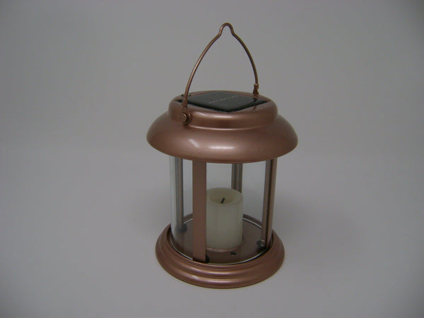 Paradise - Brass Solar Power Flickering Candle Lantern