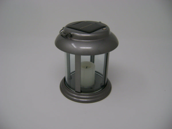 Paradise -  Silver Solar Power Flickering Candle Lantern