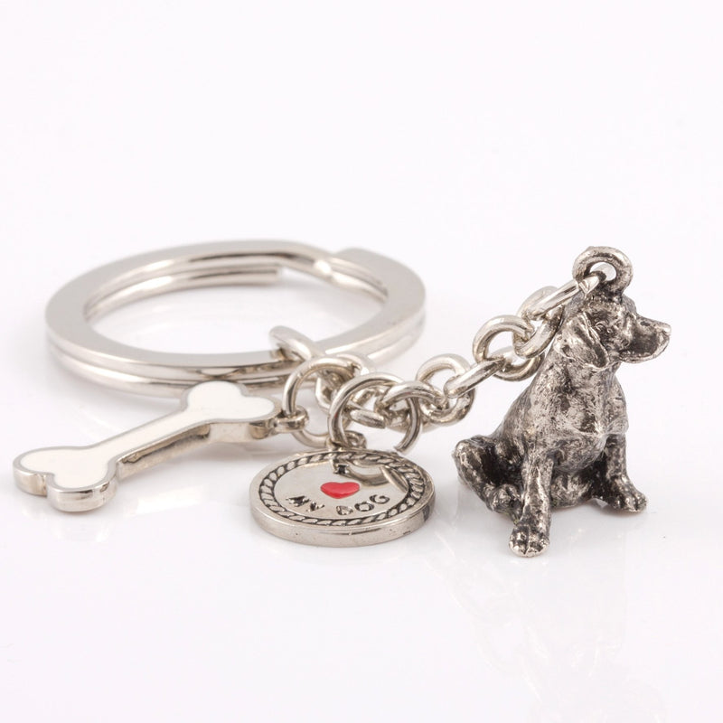 Dalmatian High Detailed Dog Metal Animal Keyring