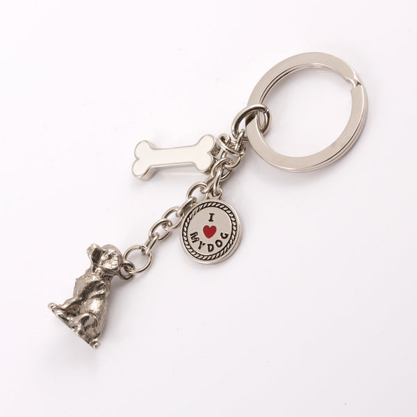 Golden Retriever High Detailed Dog Metal Animal Keyring
