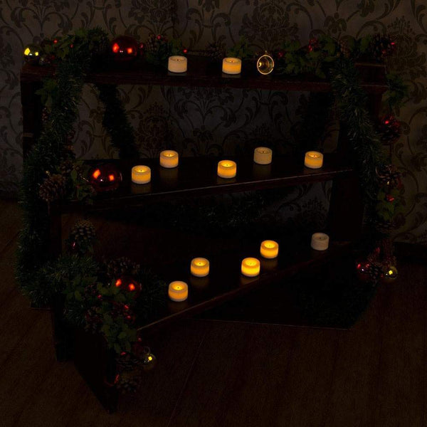 how to display tealights at christmas
