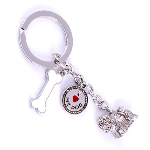 Lhasa Apsoi High Detailed Dog Metal Animal Keyring