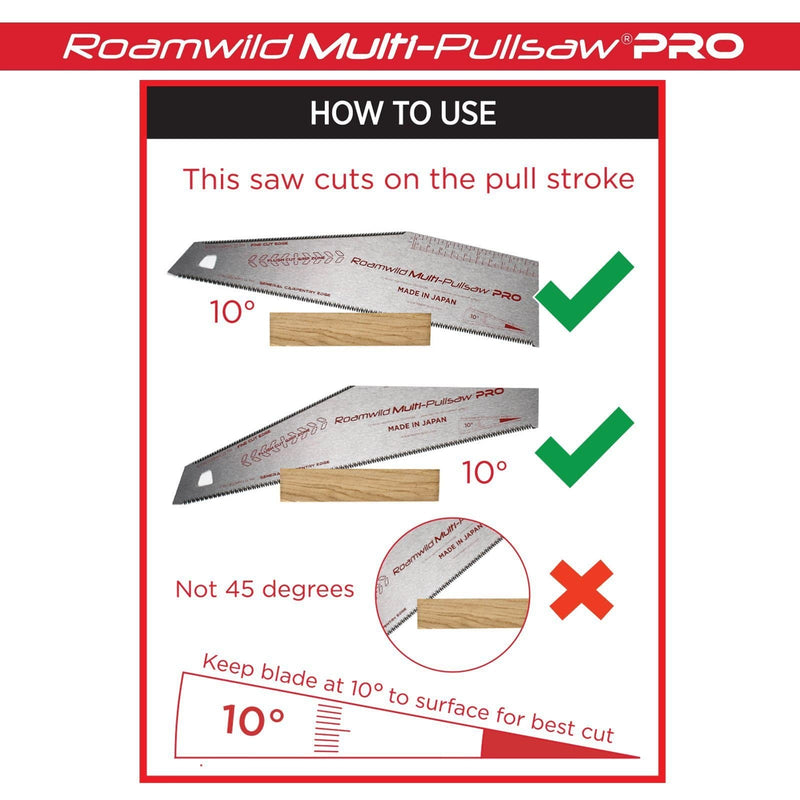 how to use a Japanese pull saw
