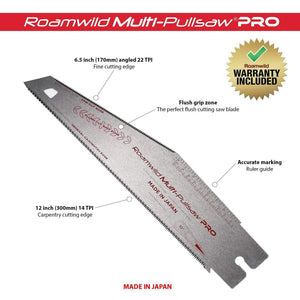 Roamwild Multi Pull Saw PRO Japanese PullSaw - 2 Pull Saws In 1