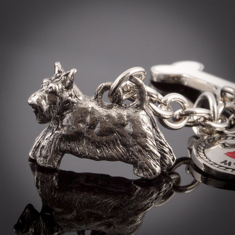 Scottish Terrier High Detailed Dog Metal Animal Keyring