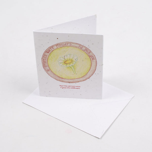 3 x Greeting Cards that Grow into Flowers - The seeds are in the paper of the card (Tea Party Theme)