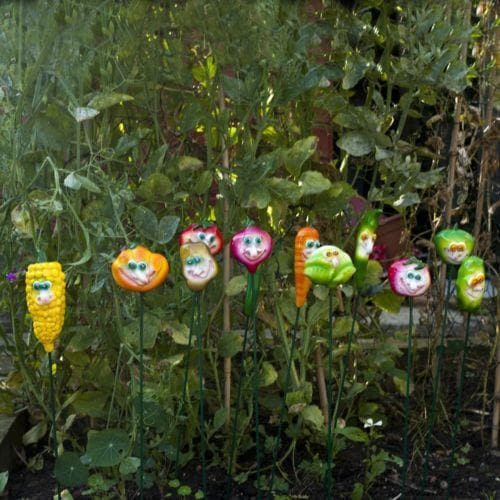 Garden Stakes Exhart Veg Heads Pack of 12 heads - Ornate Vegetables
