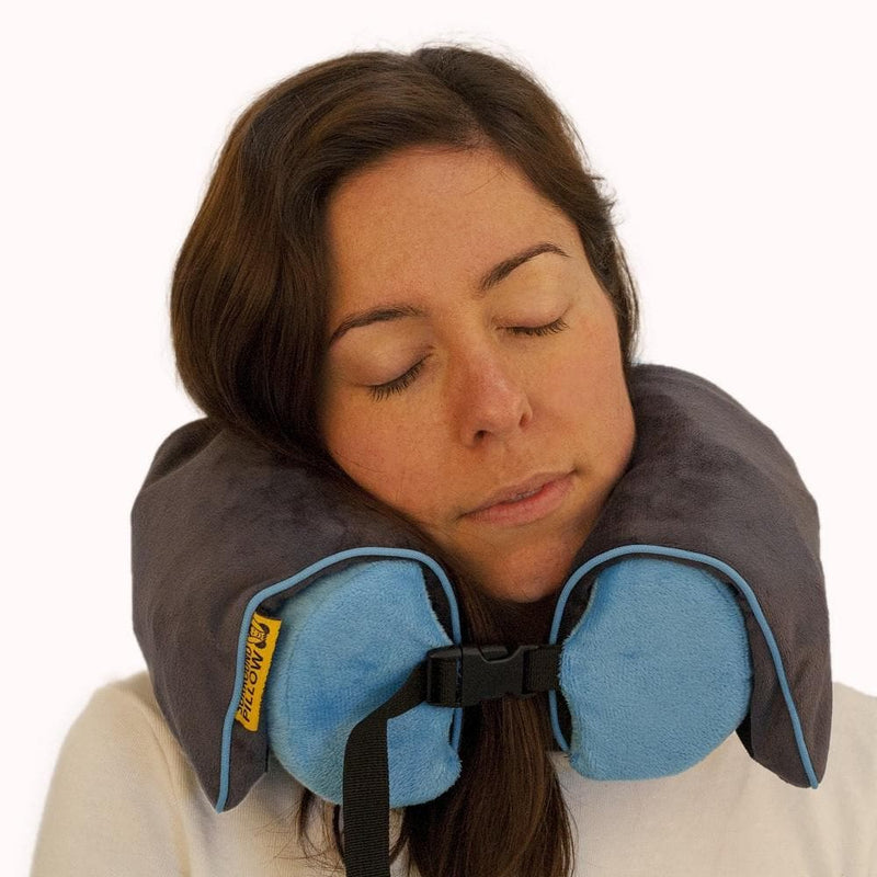 memory foam blue travel pillow