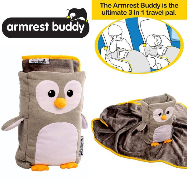 Roamwild Armrest Buddy Children's Travel Pillow & Blanket - Transforms Any Armrest Into a Child's Travel Cushion