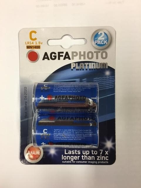 Pack of 2 - C Type Platinium Batteries