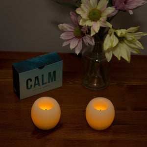 LED 2-Inch Mini Hurricanes Flameless Candles Cream, 2-Pack - These were in John Lewis  in 2017