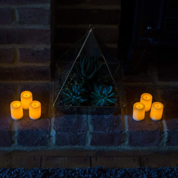 "2 inch Battery Operated Mini Votives Flickering Flameless Candles Real Wax Pack of 6  ""These were in John lewis in 2017"""