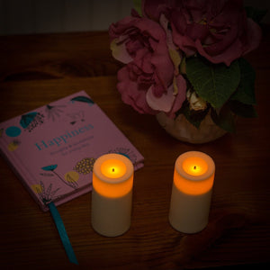 Battery operated Votives flickering Flameless Candles Real Wax pack of 2 - These were in John Lewis in 2017