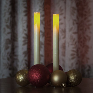 Real Wax Set Of 2 Flickering Flameless Realisitic Battery Opperated Christmas LED Candles With Real Wick- These were in John Lewis  in 2017