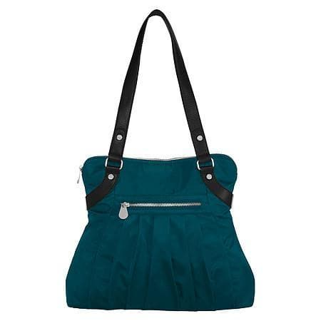 Baggallini Luggage Leather Trim Audrey Satchel, Emerald, One Size