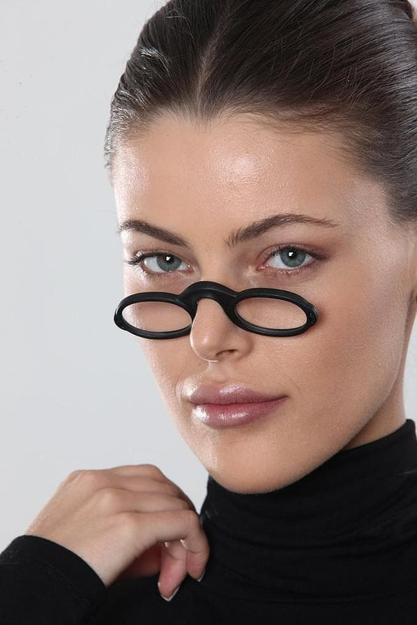 Flexsee - The Tiny Unbreakable Travel Reading Glasses - BLACK
