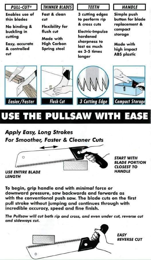 HOW TO USE A PULLSAW