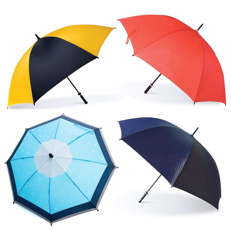 4 x Fibreglass Wind Proof Golf Umbrellas With Random Logos