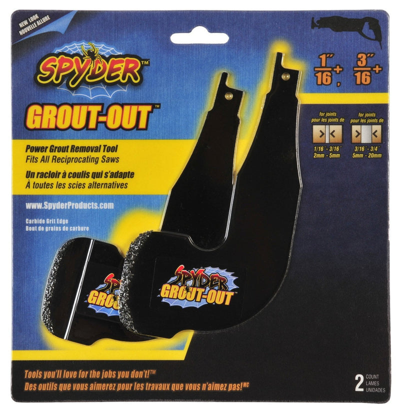 spyder grout out