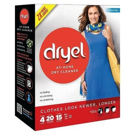 Dryel At-Home Dry Cleaning Starter Kit With Bag, Breeze Clean Boost Scent - 1 x kit