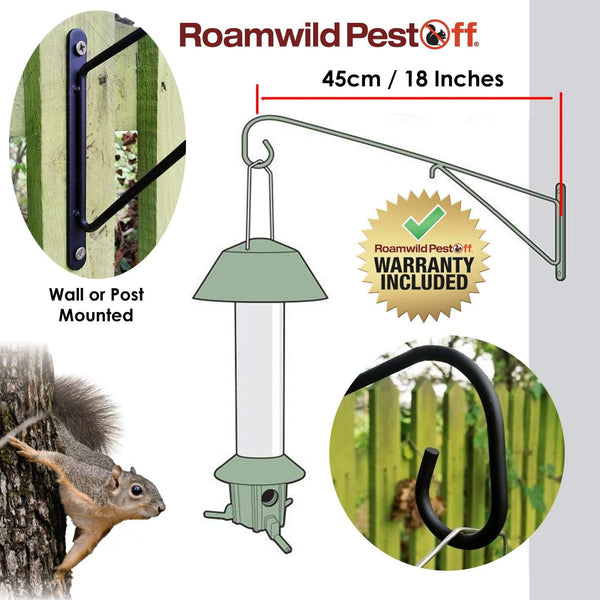 PestOff Bird Feeder Wall Mounting Bracket - Bird Feeder Wall Bracket