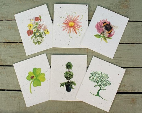flower themed greetings cards