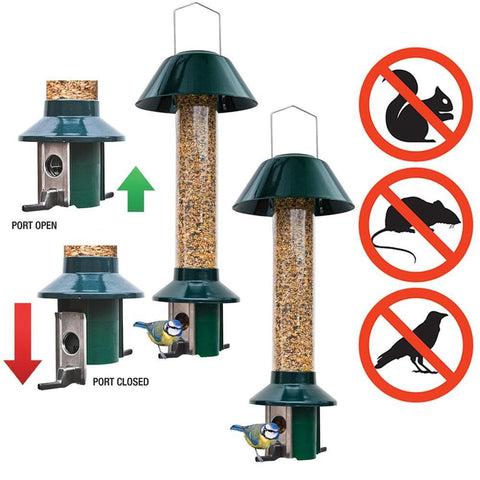 2 x PestOff Squirrel Proof Bird Feeders - SAVE £4.99 - Brilliant Value