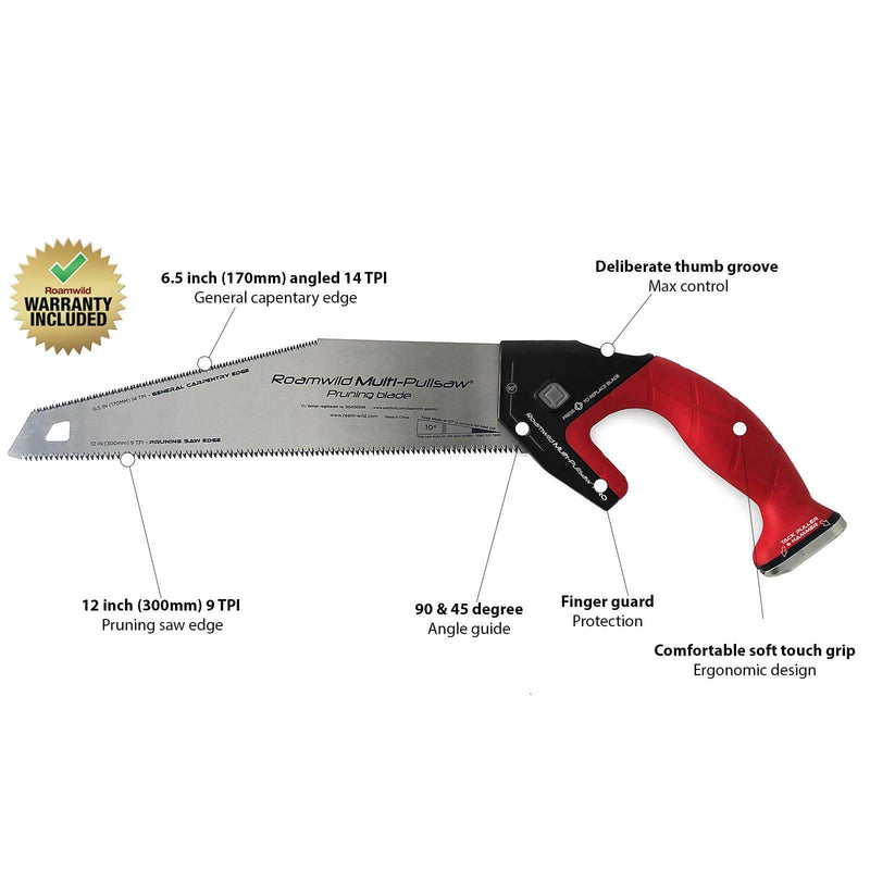 Roamwild Garden Pruning Saw | Cuts On The Pull Stroke For An Incredibly Smooth Finish