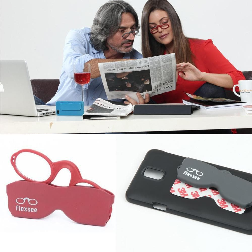 Flexsee - The Tiny Unbreakable Travel Reading Glasses - RED