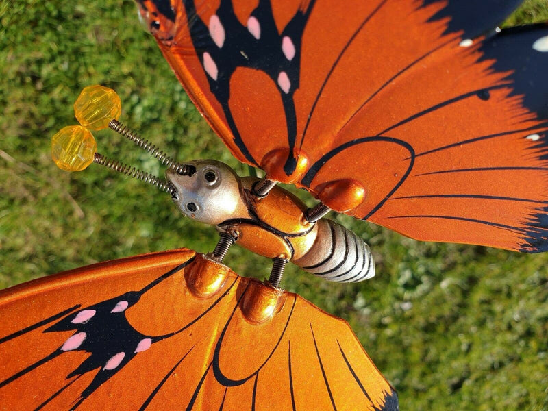 12 Pcs Springy Butterfly Stakes Exhart Windy Wings, 3 Different Colours