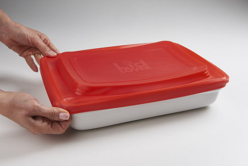 LidLover Rectangular - Snug Seal For Food, Protects Food & Makes Transporting a Breeze