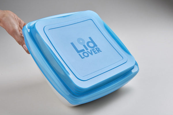 LidLover Square - Snug Food Seal, Protects Food & Makes Transporting a Breeze