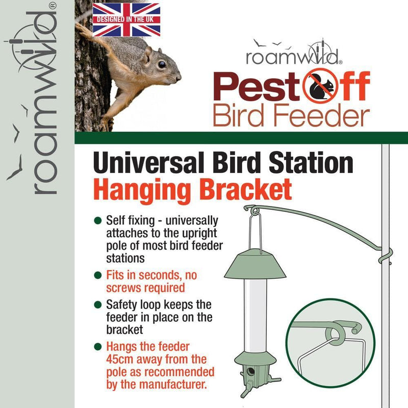 Universal Bracket - PestOff Bird Feeder Universal Mounting Bracket - For bird feeder stand