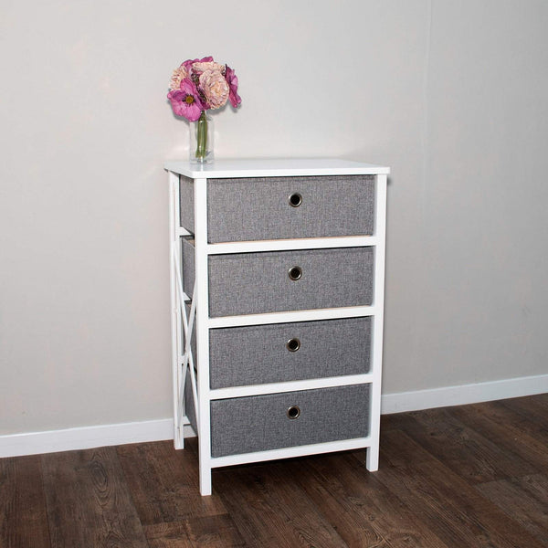 Beautiful Wooden Furniture - 4 Drawer - Assembles In Minutes No Tools Required