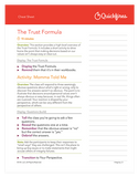 Integrity Training Course Facilitator Cheat Sheet