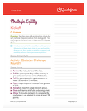 Strategic Agility Training Course Facilitator Cheat Sheet