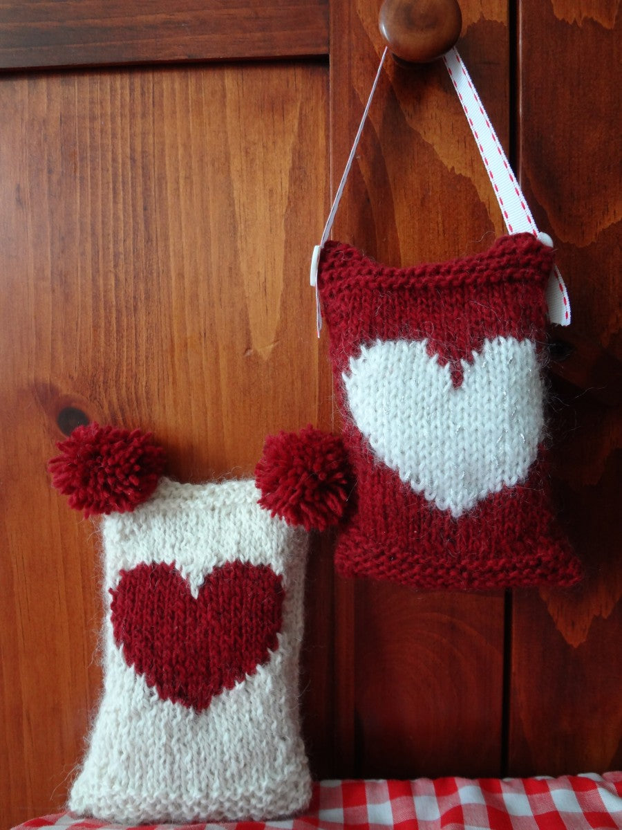 two color Valentine's Day Heart Sachets