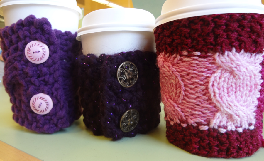 Cup Cozys For Mother's Day – Pictured left to right: Double Latte, House Blend, Cortado